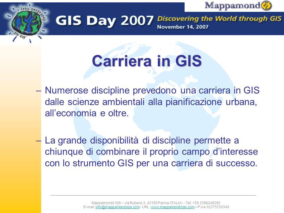 Mappamondo GIS – via Rubens 3, 43100 Parma (ITALIA) - Tel: +39 3386246285 E-mail: info@mappamondogis.com - URL: www.mappamondogis.com – P.Iva 02375720345info@mappamondogis.comwww.mappamondogis.com GIS per lo studio del dissesto