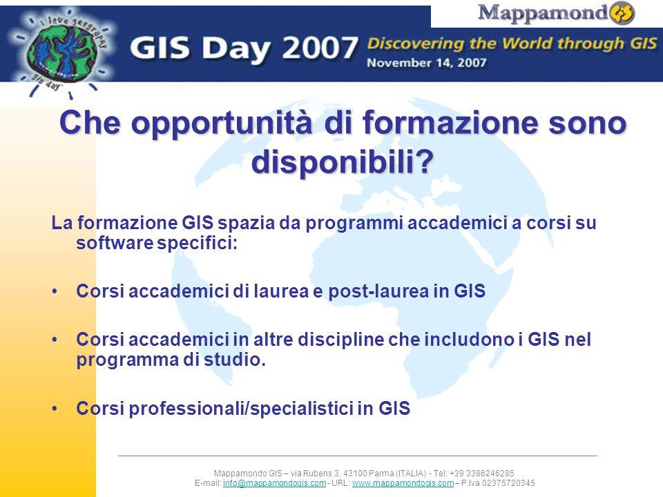 Mappamondo GIS – via Rubens 3, 43100 Parma (ITALIA) - Tel: +39 3386246285 E-mail: info@mappamondogis.com - URL: www.mappamondogis.com – P.Iva 02375720345info@mappamondogis.comwww.mappamondogis.com Nuovi corsi dove teoria e pratica si applicano a un caso di studio multidiciplinare reale Dive GIS GIS per la previsione dei dissesti