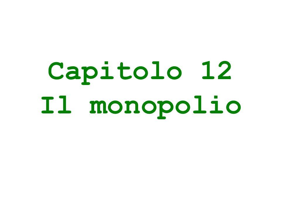 Capitolo 12 Il monopolio