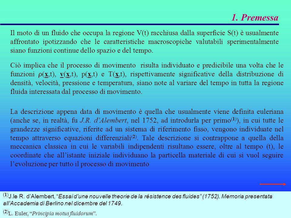 3.1.1 Il teorema di Bernoulli in grande nella pratica idraulica Nelle ipotesi di: fluido perfetto ( =0) in moto irrotazionale ( =0); fluido incomprimibile ( =costante); fluido pesante (forze di massa dovute al campo gravitazionale per cui f=-g grad(z) ); moto permanente ( ); Si noti che, in questo caso, il carico totale si mantiene costante in tutto il campo di moto.