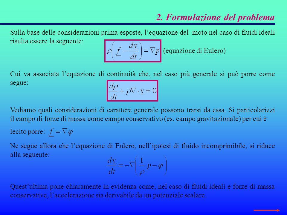3.1.2 Significato energetico del teorema di Bernoulli Linterpretazione dellaltezza piezometrica come termine energetico può essere fatta discendere dallesempio seguente.