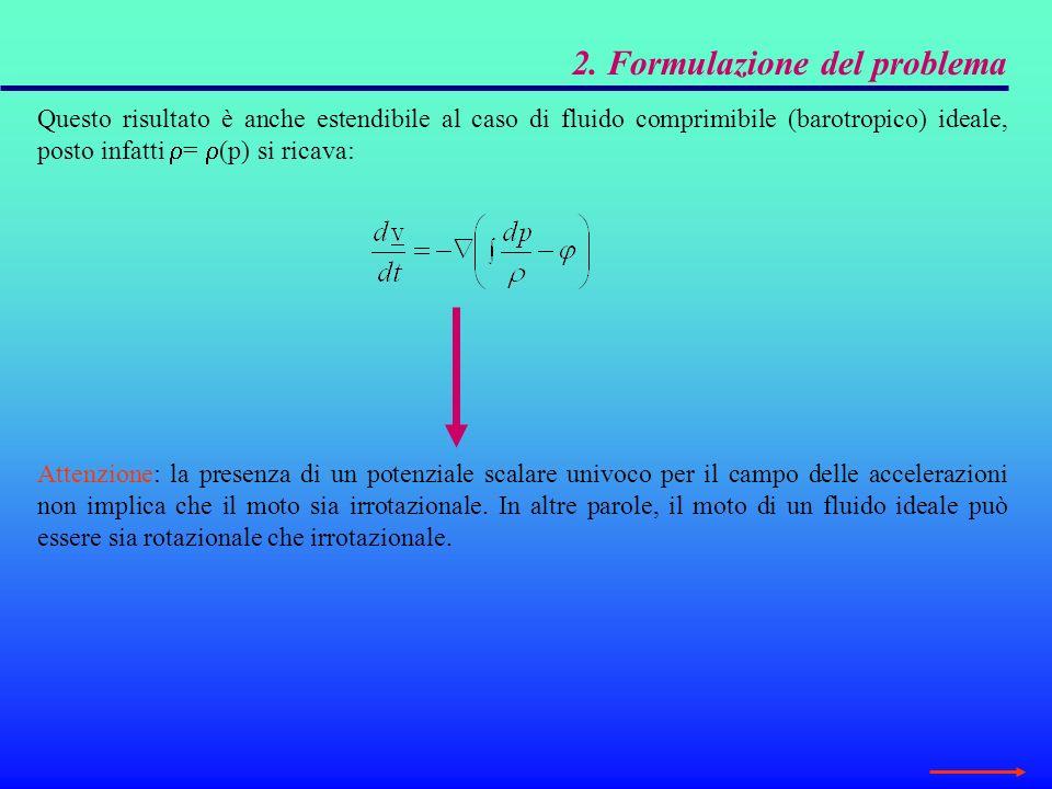4.1 Potenziale delle velocità ed equazione di Laplace Lequazione di continuità per un fluido incomprimibile, in due dimensioni, nella forma: Garantisce lesistenza di una funzione di corrente che consente di ricavare le componenti di velocità secondo le identità: Allo stesso modo, la condizione di irrotazionalità postula lesistenza della funzione potenziale delle velocità che è correlata, in due dimensioni, al campo delle velocità dalle relazioni: Dalle condizioni sopra riportate si ricava che la funzione di corrente e la funzione potenziale sono tra loro correlate dalle condizioni di Cauchy-Riemann: