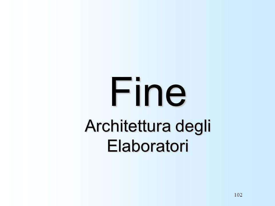 102 Fine Architettura degli Elaboratori