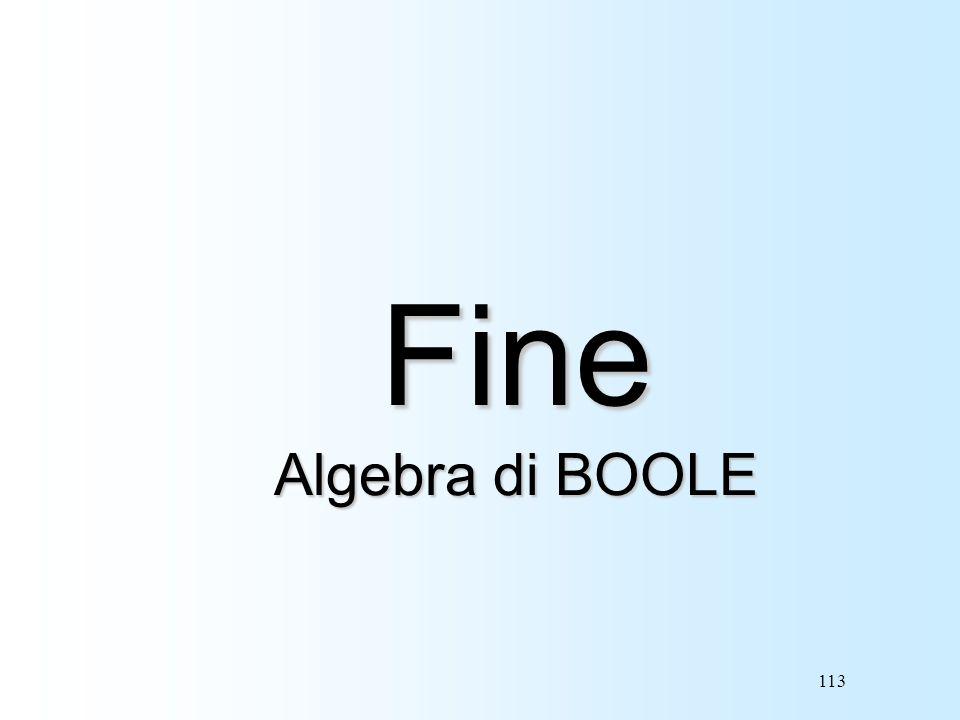 113 Fine Algebra di BOOLE