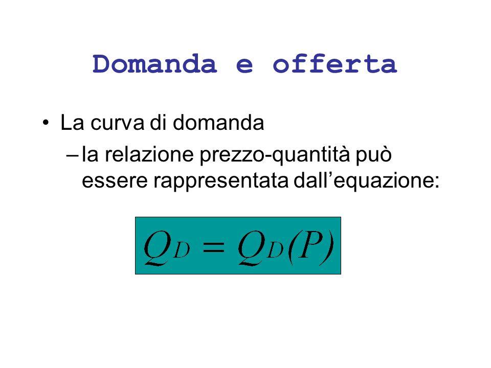 Il meccanismo di mercato D O Q1Q1 Se il prezzo è P 1, allora: 1) Q o = Q 2 > Q d = Q 1 2) leccedenza è Q 2 -Q 1.