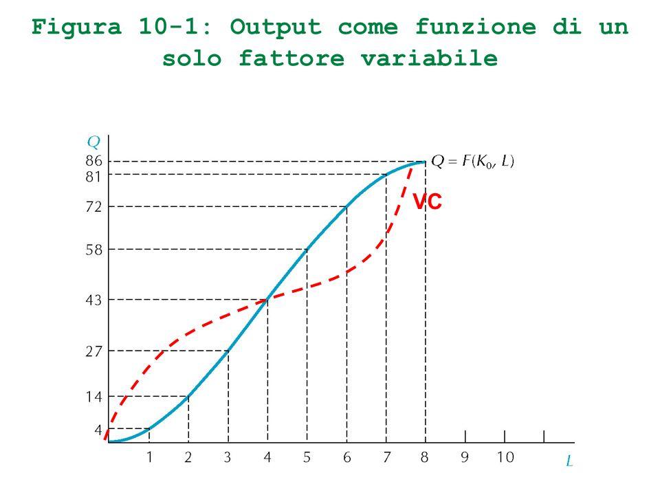 Figura 10-1: Output come funzione di un solo fattore variabile VC