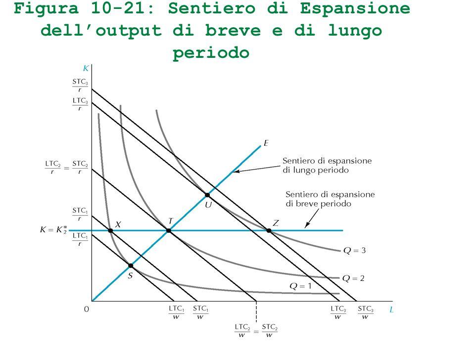 Figura 10-21: Sentiero di Espansione delloutput di breve e di lungo periodo