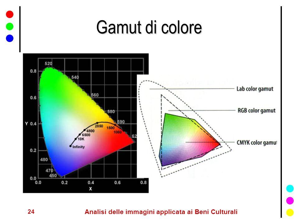 24 Analisi delle immagini applicata ai Beni Culturali Gamut di colore