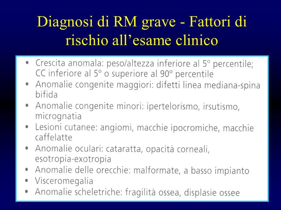 Diagnosi di RM grave - Fattori di rischio allesame clinico
