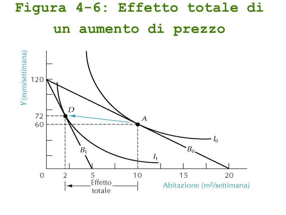 Figura 4-6: Effetto totale di un aumento di prezzo