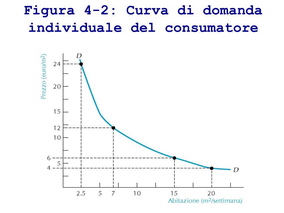 Figura 4-2: Curva di domanda individuale del consumatore