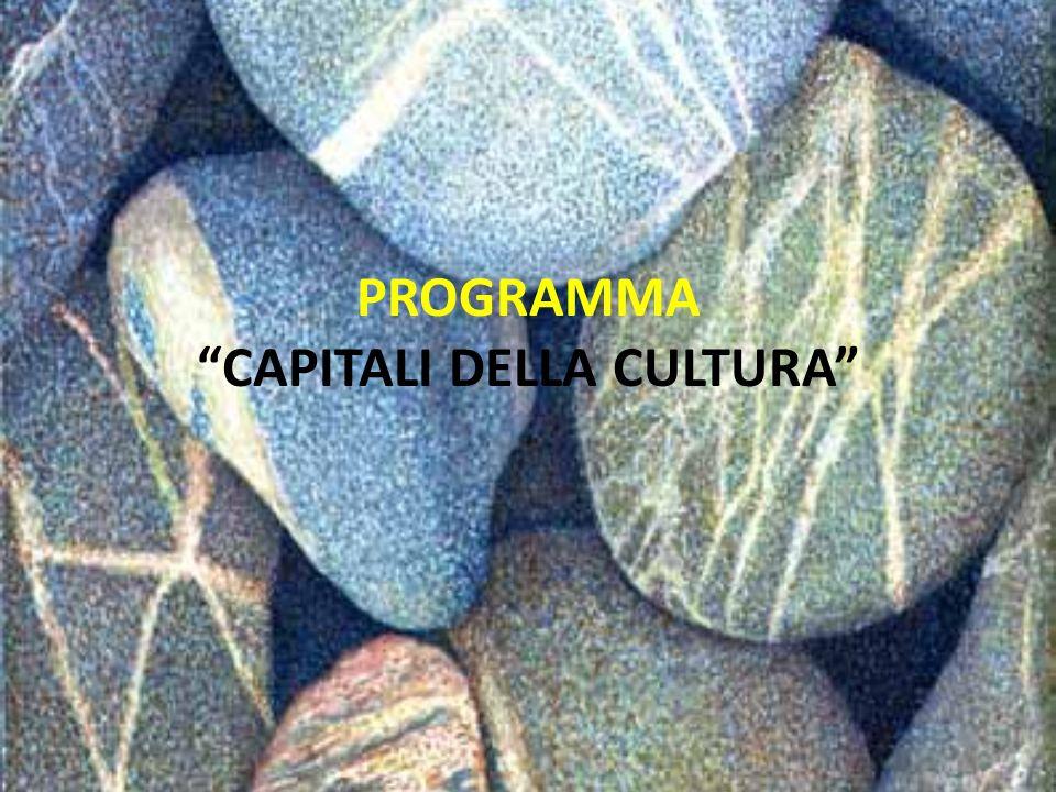 PROGRAMMA CAPITALI DELLA CULTURA