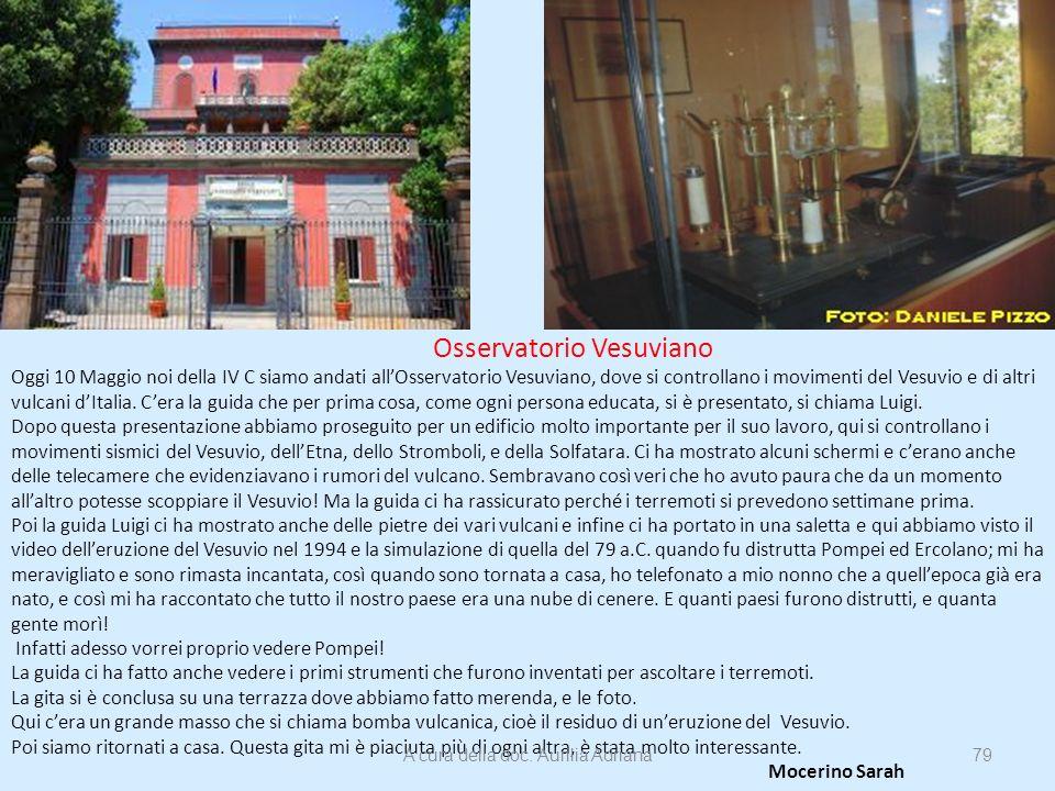 Osservatorio Vesuviano Oggi 10 Maggio noi della IV C siamo andati allOsservatorio Vesuviano, dove si controllano i movimenti del Vesuvio e di altri vu