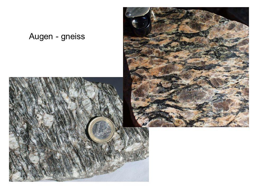 Compound names Spesso i nomi delle rocce metamorfiche sono composti; i prefissi di carattere mineralogico servono per specificare meglio la composizione mineralogica della roccia ESEMPIO: garnet – mica-schist lawsonite – glaucophane schist