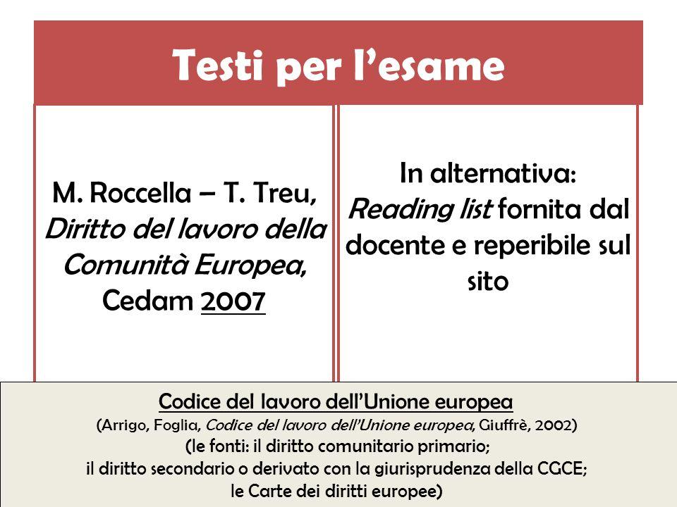 Del testo di Roccella, Treu vanno studiate solo le seguenti parti: Cap.