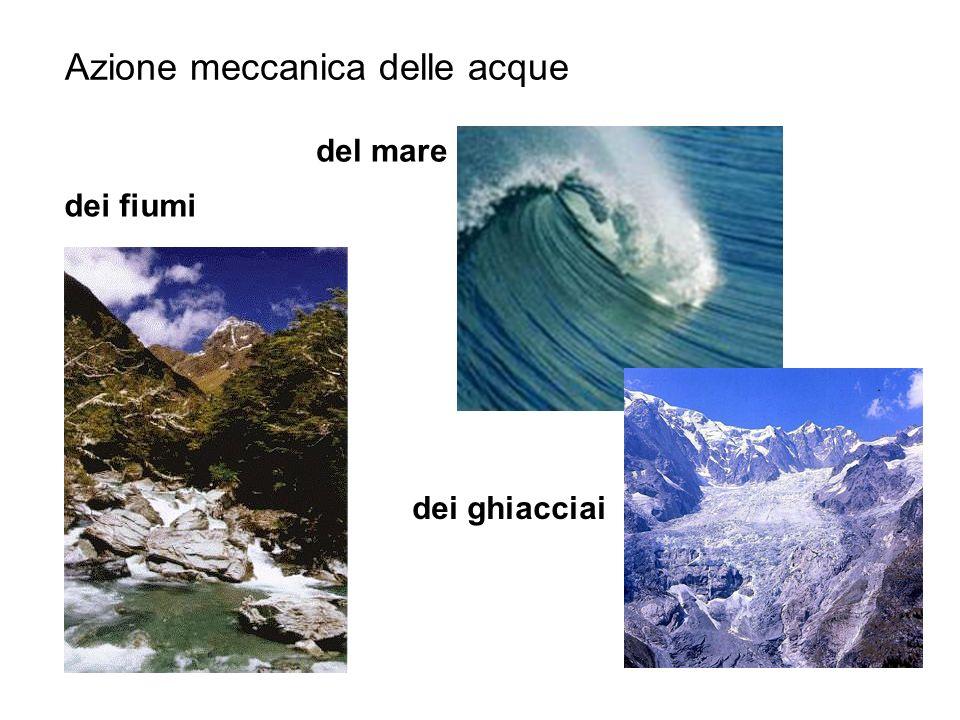 Azione meccanica delle acque dei fiumi del mare dei ghiacciai