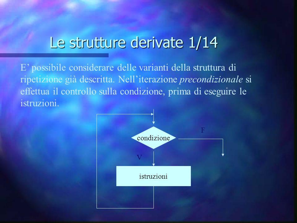 Le strutture derivate 1/14 E possibile considerare delle varianti della struttura di ripetizione già descritta. Nelliterazione precondizionale si effe