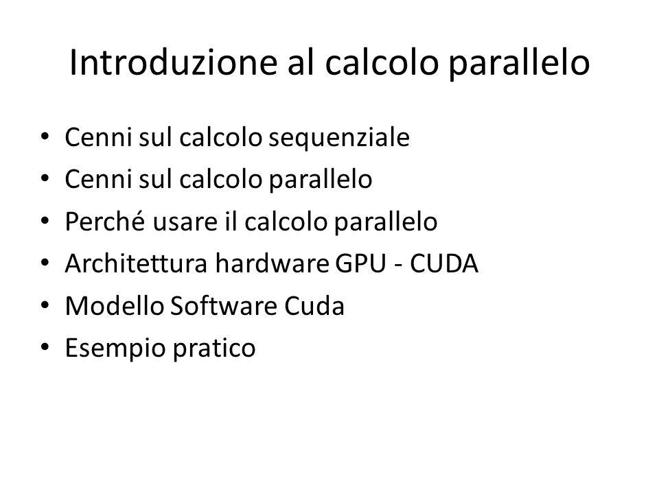 Introduzione al calcolo parallello Benchmark di alcuni tool Bioinformatici Vento sulla GPU