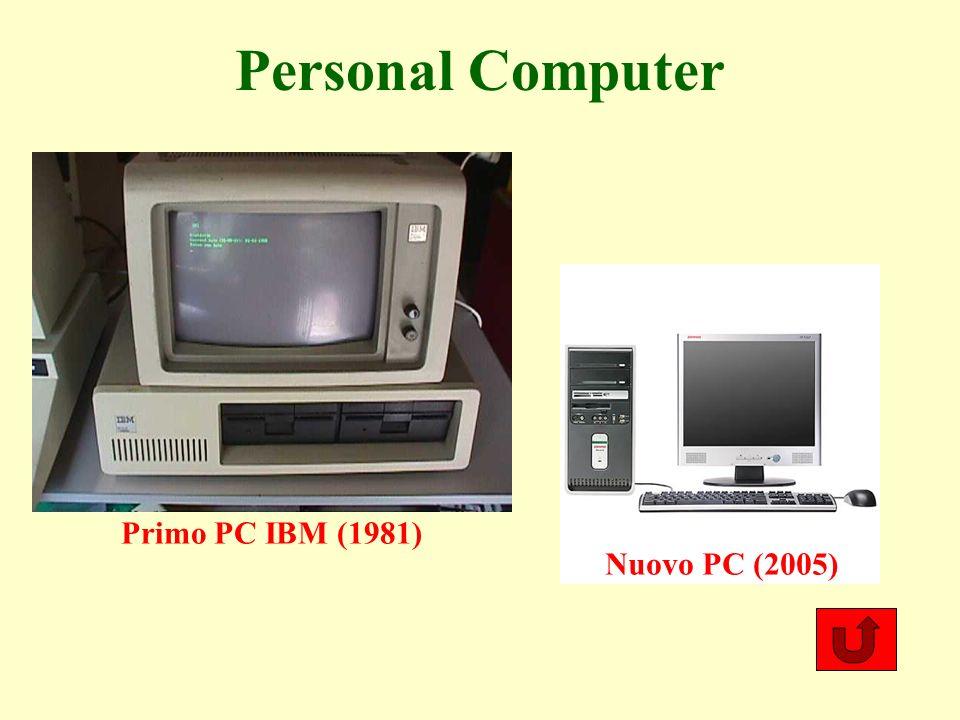 Personal Computer Primo PC IBM (1981) Nuovo PC (2005)