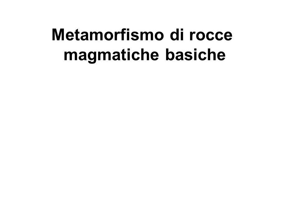 Metamorfismo di rocce magmatiche basiche in facies anfibolitica ANFIBOLITE Orneblenda + plagioclasio + quarzo