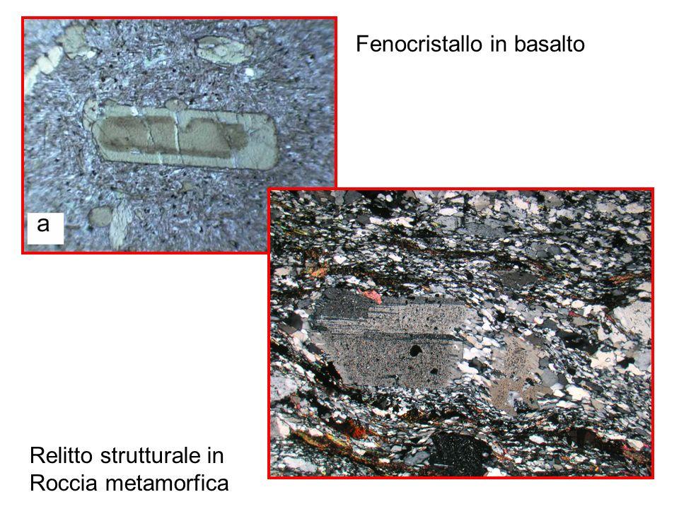 Fenocristallo in basalto Relitto strutturale in Roccia metamorfica