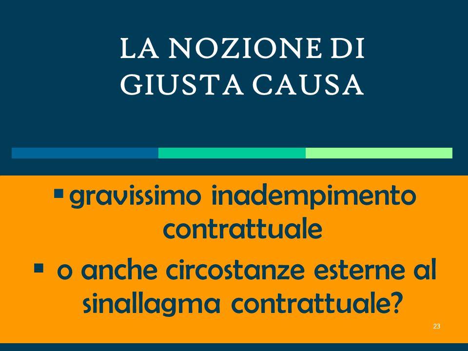 Linterpretazione delle clausole generali di giusta causa e di giustificato motivo da parte della giurisprudenza