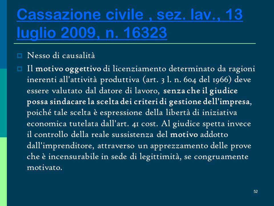 51 Cassazione civile, sez.lav., 13 luglio 2009, n.