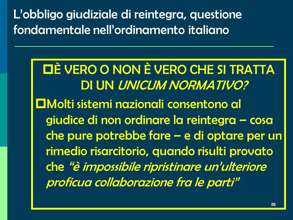 Verso il superamento dellart. 18 nellordinamento italiano? Le ricadute nel dibattito interno