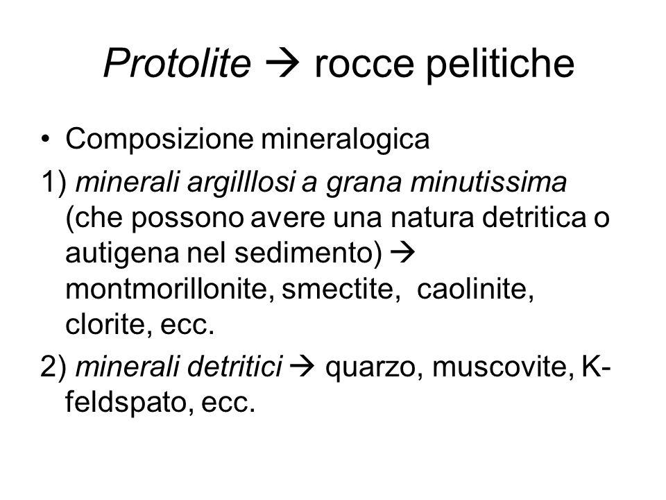 Facies granulitica – altissimo grado metamorfico Paragneiss - granulite Gneiss granulitico - migmatitico