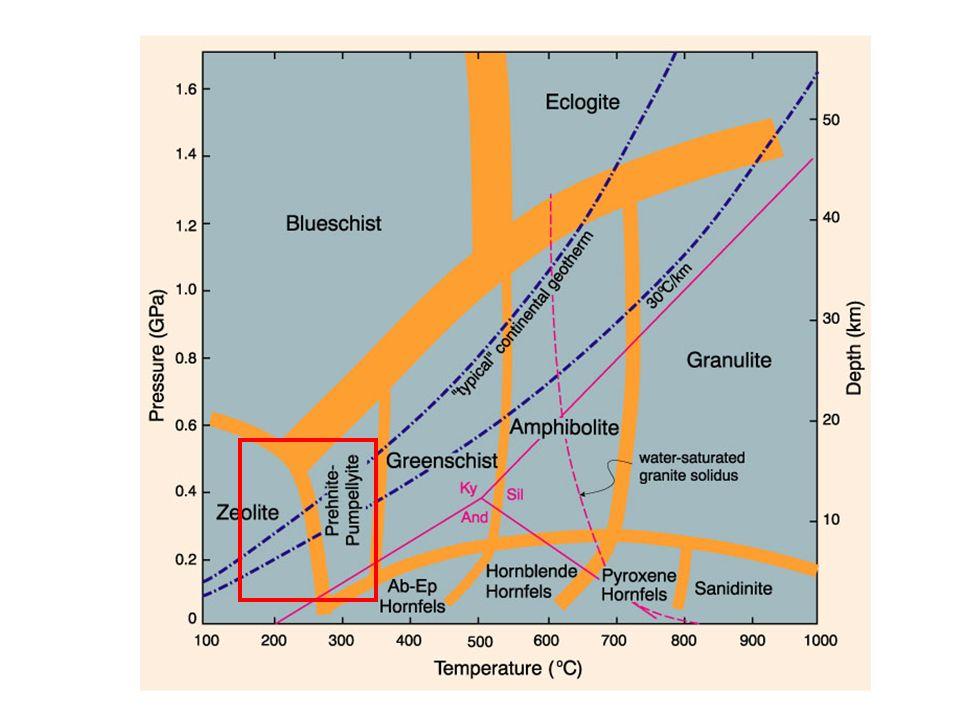 Anfibolite Facies – alto grado metamorfico Gneiss (Paragneiss) Minerali costituenti : biotite + quarzo + plagioclasio + K-feldspato + sillimanite/andalusite/cianite + granato