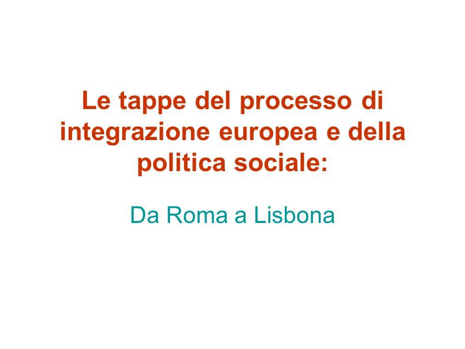Il Trattato di Maastricht e l escamotage del Protocollo sociale –LAccordo sulla Politica sociale a 11 I nnovazioni principali Riformulazione art.