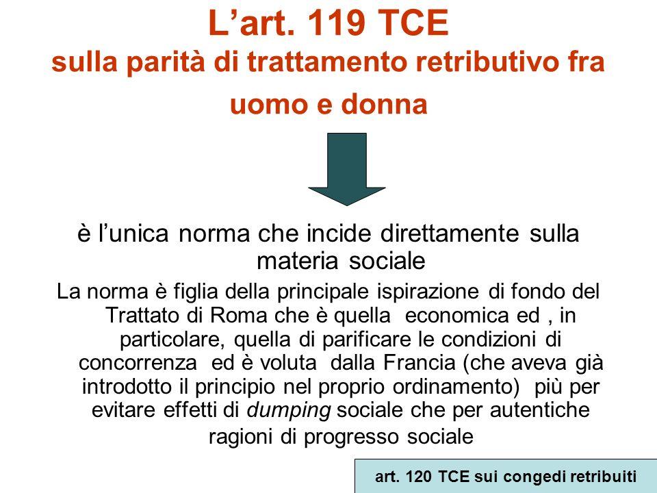 Le 4 aree originarie di competenza della Comunità a)libera circolazione dei lavoratori (art.