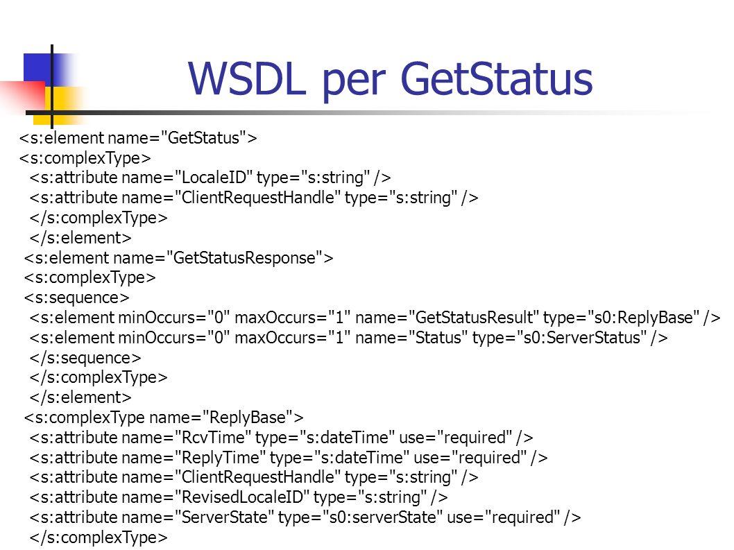 WSDL per GetStatus