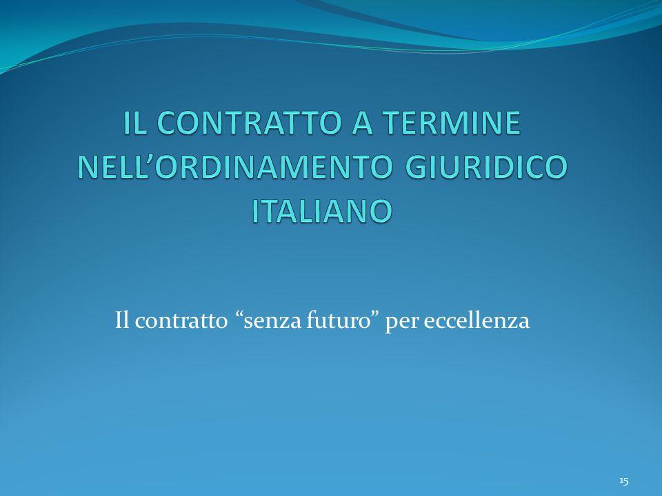 15 Il contratto senza futuro per eccellenza 15