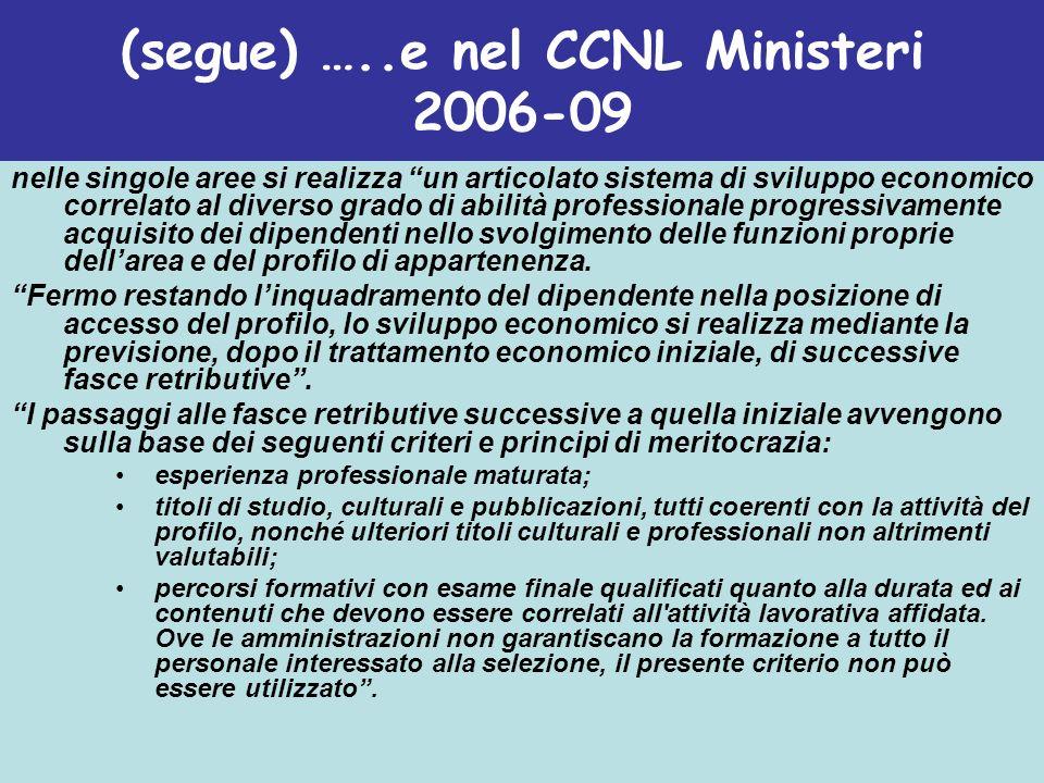 (B) Le progressioni di carriera nella legge (dopo la Riforma Brunetta)….