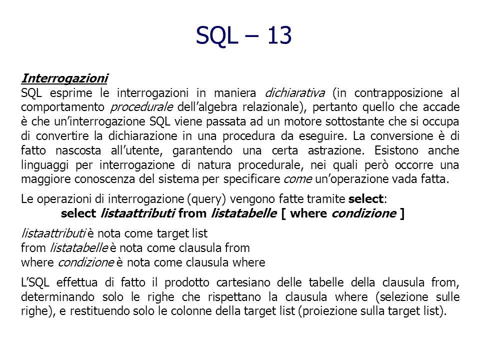 SQL - 12 Gli schemi (tabelle, attributi, domini) possono essere modificati mediante comandi: alter domain consente di mutare caratteristiche di domini