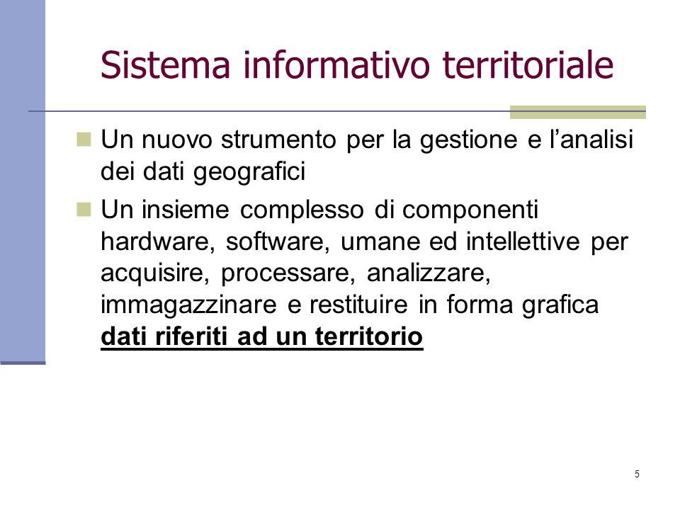 16 Software per la gestione del database E un software che raccoglie al proprio interno i dati e che attraverso appositi moduli di collegamento permette al software SIT/GIS di accedervi