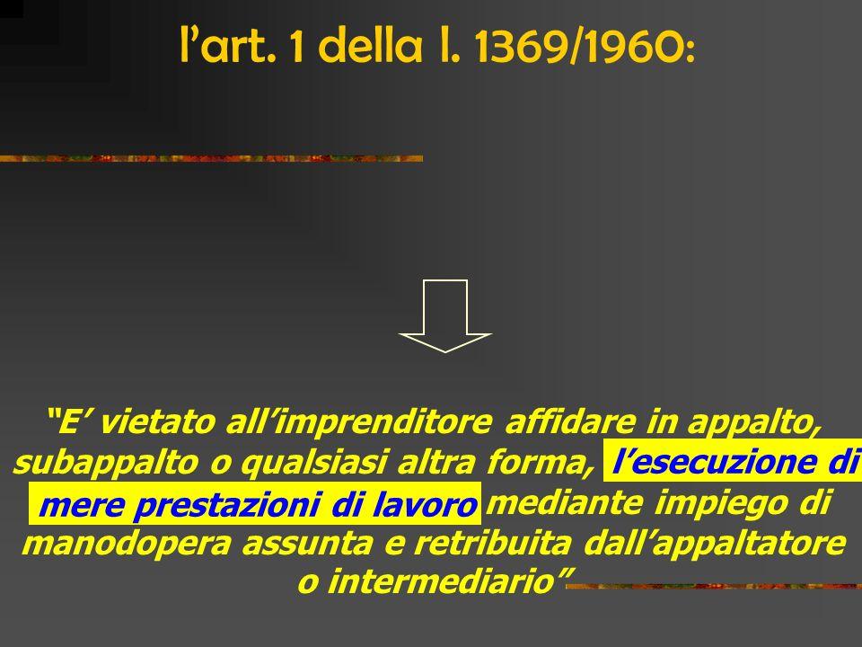 Agenzia di lavoro temporaneo Contratto di fornitura (necessariamente temporaneo) Impresa utilizzatrice Contratto di lavoro Lavoratore… Missione Lo schema del lavoro interinale nel 1997