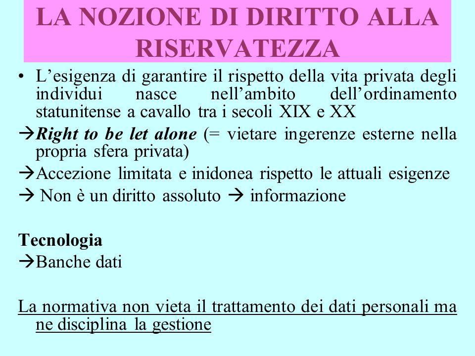 DATI SENSIBILIDATI SENSIBILI (art.8) divieto del loro trattamento n.