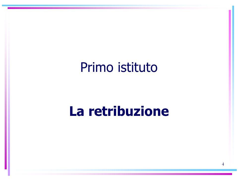 5 La retribuzione i due nuclei concettuali: Retribuzione, principi costituzionali (art.
