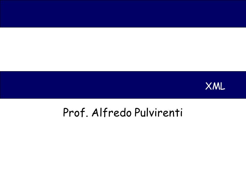 XML Prof. Alfredo Pulvirenti