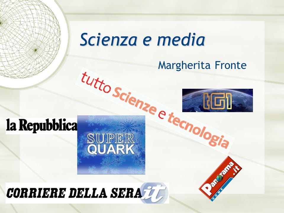 Margherita Fronte Scienza e media