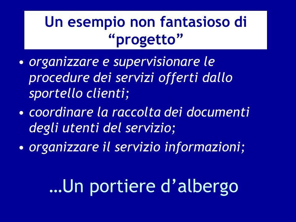 …Un portiere dalbergo organizzare e supervisionare le procedure dei servizi offerti dallo sportello clienti; coordinare la raccolta dei documenti degl
