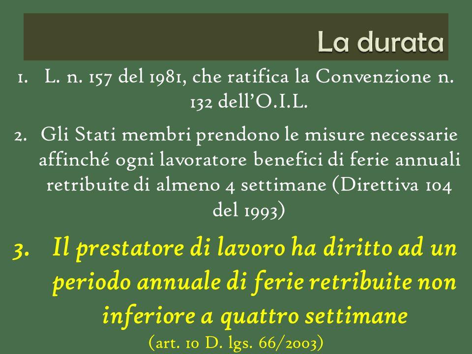 1.L. n. 157 del 1981, che ratifica la Convenzione n.