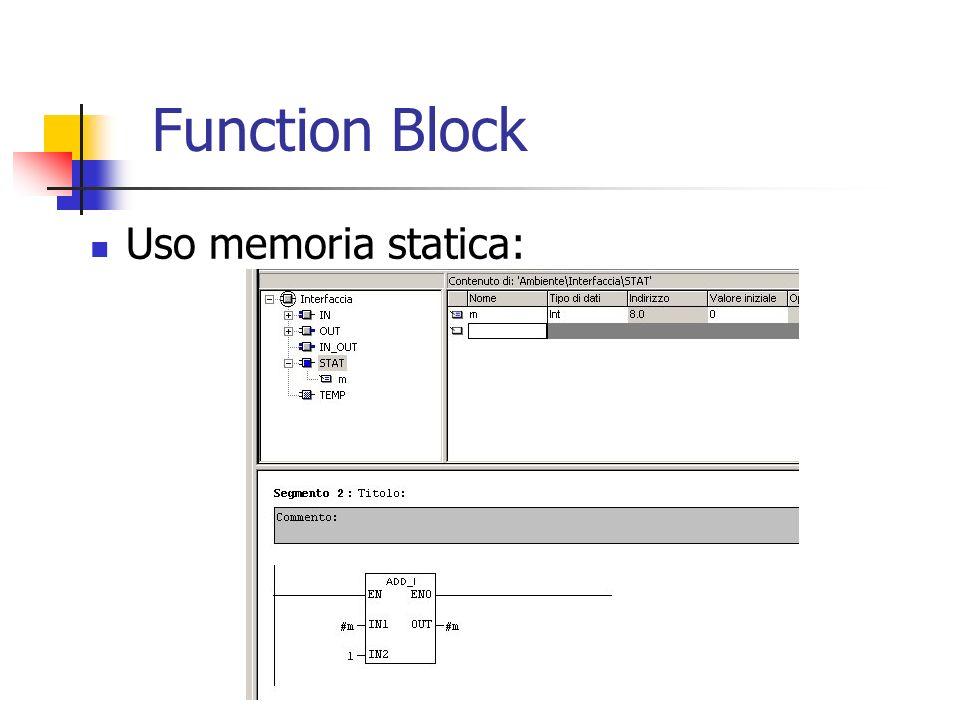 Uso memoria statica: