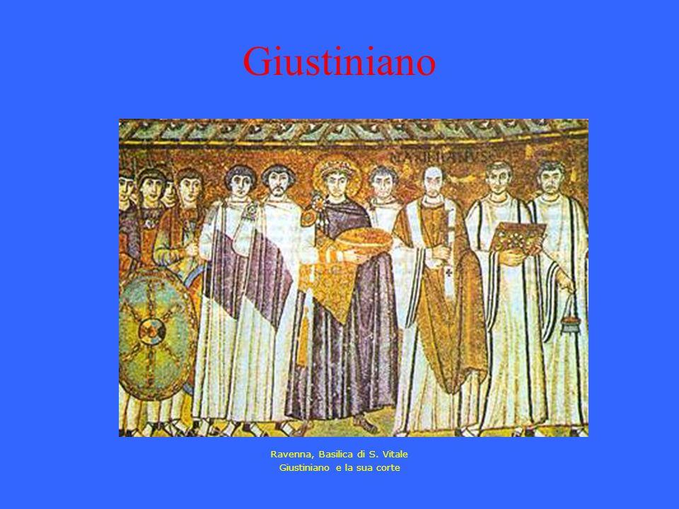 Giustiniano Ravenna, Basilica di S. Vitale Giustiniano e la sua corte