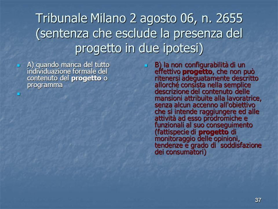 37 Tribunale Milano 2 agosto 06, n.