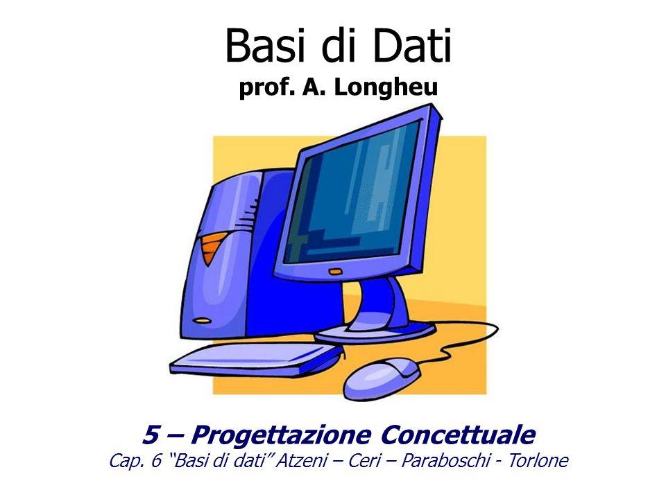 Basi di Dati prof.A. Longheu 5 – Progettazione Concettuale Cap.