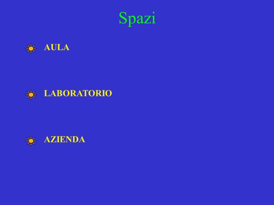 AULA LABORATORIO Spazi AZIENDA