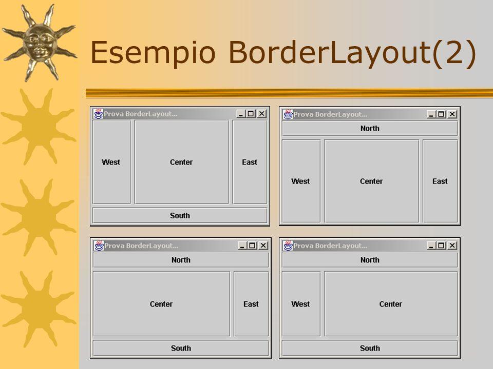 Esempio BorderLayout(2)